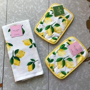 NWT Kate Spade Make Lemonade 3 Piece Kitchen Set